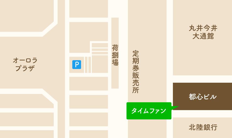 タイムファン 大通地下街店 地図