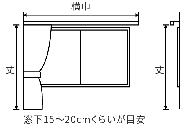 カーテンオーダー「横巾」説明画像