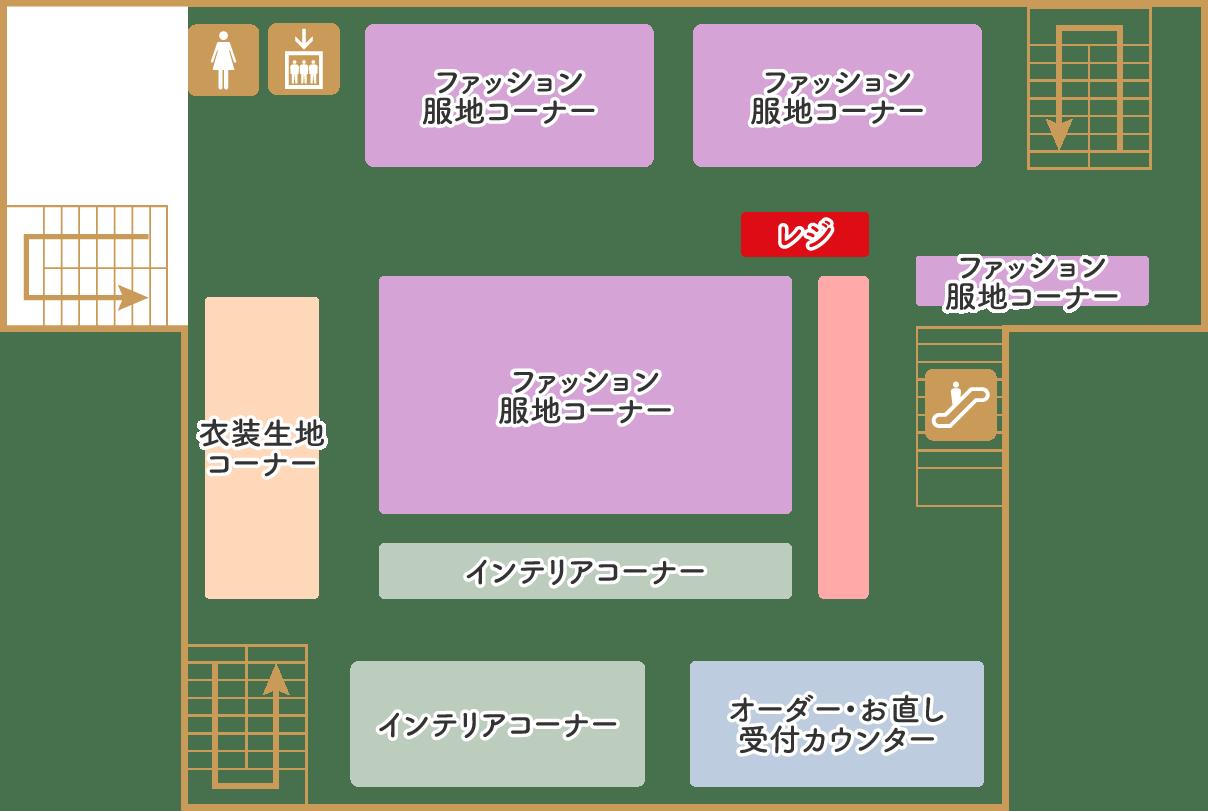 カナリヤ本店 2F フロアマップ