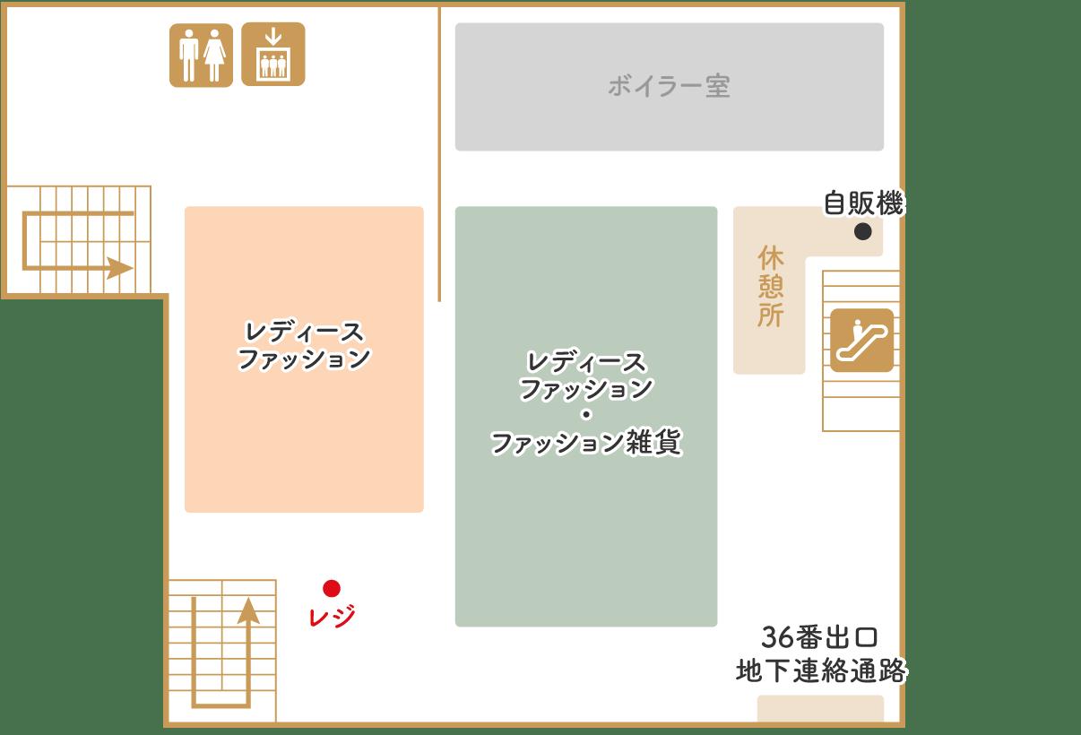 カナリヤ本店 B1F フロアマップ
